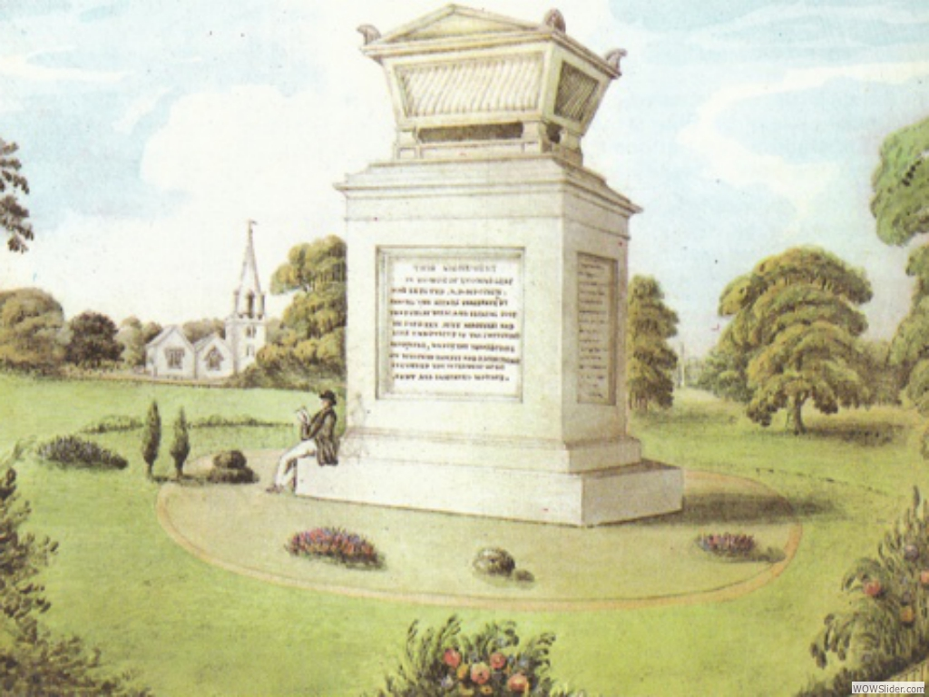 Gray monument 19th century painting