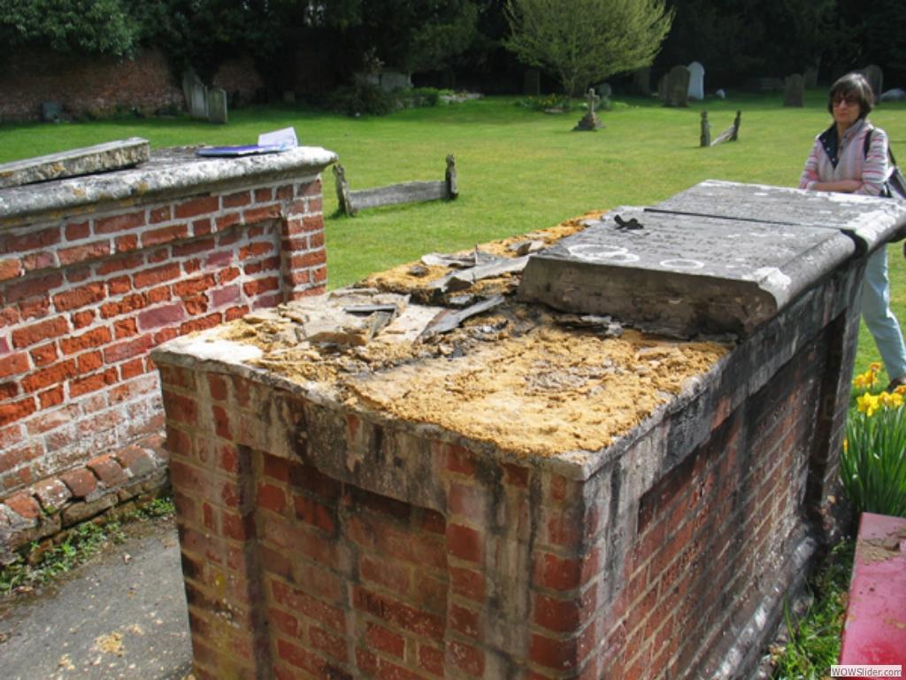 Slab removed for restoration