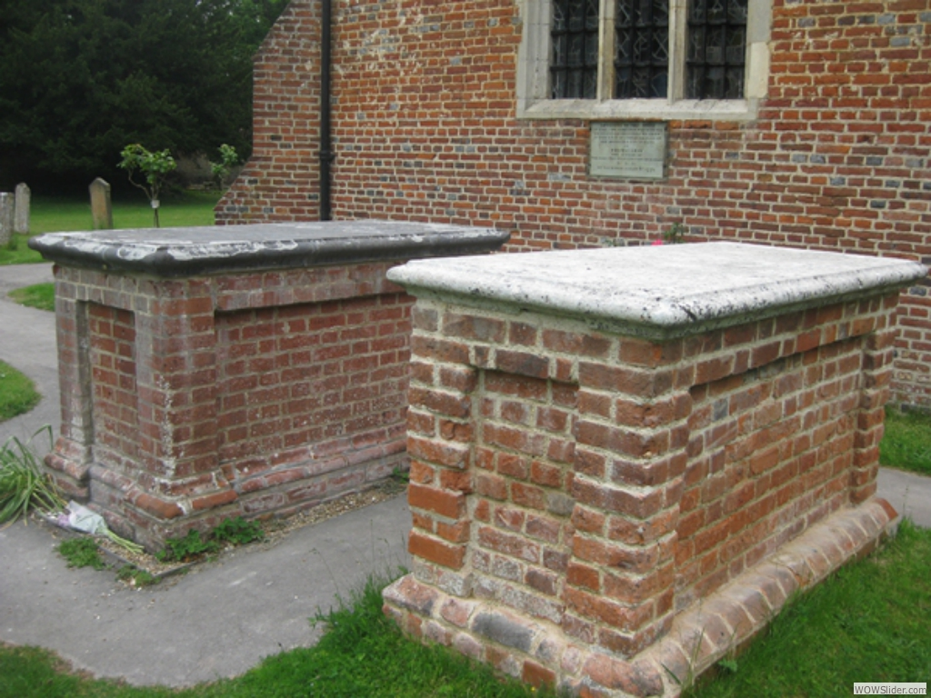 Two tombs after restoration